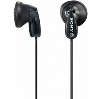 SONY MDRE9LPB.AE, In ear headphones, black, Microphone and in-line remote, 13.5mm driver units, 1.2m cable length, 3.5mm jack, Frequency Response 18 - 22000 Hz, Impedance 16 Ohm, Sensitivity 104 Db