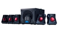Genius SW G5.1 3500 Gaming speakers, 80W, volume control, remote contoller, Colorful LED indicator, Black