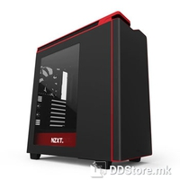 "NZXT H440 ""NEW EDITION"" MID TOWER CASE W/WINDOW (BLACK/RED)"