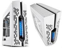 ATX Midi Tower Case Deepcool Genome White w/Blue Liquid Cooling System 2xUSB 3.0, 120mm Fan