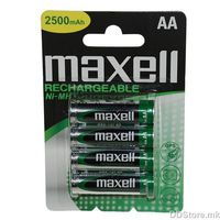 Maxell Rechargeable NiMh AA 2500mAh batteries 4pcs pack Blister