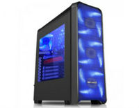 ATX Midi Tower Case SAMA Inpower JAX-08 Cruiser Gaming Black w/o PSU