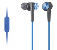 SONY MDRXB50APL.CE7, Extra Bass In Ear, Blue, with MIC, Nominal Impedance: 40 Ohm, Sensitivity: 106 dB, Frequency response 4 - 24-000 Hz, Connector: 3.5mm Jack, gold-plated L-shaped plug, Extra Bass, Cable length: 1.2 meters