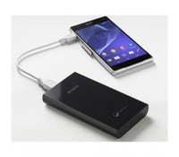 SONY CP-V10B, Charging power bank, black, 10000mAh, 1.5A (Max), recharge via USB or power adapter, Micro USB cable included