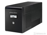 UPS PowerWalker 2000VA/900W 2xSkhuko 2xIEC 1xRJ45/RJ11 USB LCD Line-Interactive