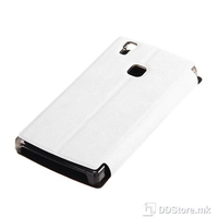 Flip Case for DOOGEE X5 Max Leather White + Tempered Glass