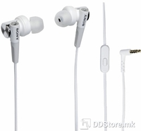 Earphones Sony MDR-XB50APW w/Microphone Extra Bass White