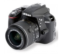 Nikon D3300 D-SLR Black SET (18-55mm VR), 24 Megapixels