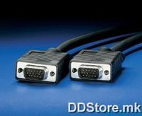 11.01.6618-50 ROLINE VGA Cable, HD15 M - HD15 M, 1.8m
