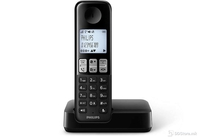 Telephone Philips D2301B Black