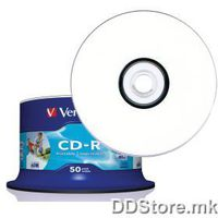CD-R Verbatim 700MB 52x 50pcs Print. Spindle