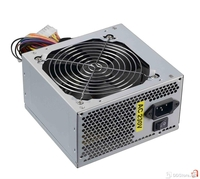 500W labeled 230W rp, 20+4pin, 12cm Fan, 2x Power SATA, 3xIDE  connectors