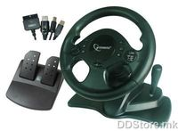 Steering Wheel 4in1 ShockForce 2xVibration PS2/PC