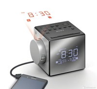Digital Tuner & Alarm Clock Sony ICF-C1PJ w/projector Silver