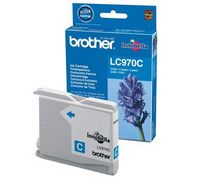 Brother Cartridge LC970C Cyan (up to 300 pgs), for DCP-135C/150C/ MFC-235C/260C