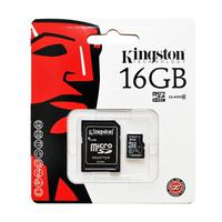 Kingston 16GB microSDHC Class 10 w/SD Adapter, SDC10G2/16GB