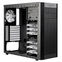 "Fractal Design Fractal Design Core 3000 Black, Midi tower, ATX,µATX, 5,25"" vanjski utor 2, 3,5"" unutarnji utor 6, USB 4, Hlađenje Ventilatori: Prednji: 140x140x25mm; Stražnji: 120x120x25mm; Gornji: 140x140x25mm, Crna"