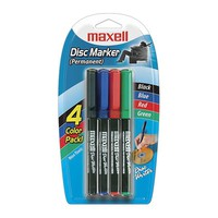 Maxell CD Marker pens, 4pcs in one package (4 colors)