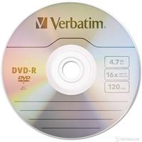 Verbatim DVD-R,4.7Gb 16x, wrap Matt silver 43729