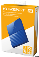 "Western Digital My Passport Blue 1TB, 1 TB, USB 2.0,USB 3.0, 8 MB, 2,5"", 5.400 rpm"