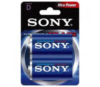 SONY AM1B2D, 2x 1.5V D Stamina plus alkaline battery Blister