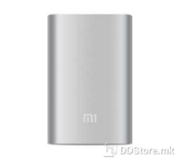 Xiaomi Mi power bank 10000mAh, Silver Color, 2 x USB outputs, Battery type: Lithium-ion rechargeable cell, Input: DC 5.1V, Size: 90.5 x 77 x 21.6mm, Weight: 250gr