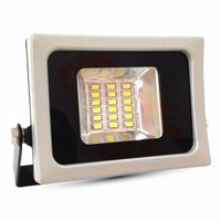 10W LED Floodlight V-TAC SLIM Black/Grey Body SMD 3000K IP65 800 lm 120° - NEW SKU : 5720