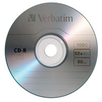 Verbatim CD-R 700Mb,52x, Extra protection cake of 25 43807