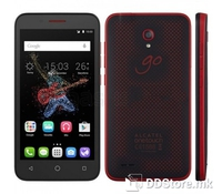 "Alcatel Go Play 7048X Waterproof smartphone, Red Black, with 4G LTE, 5"" IPS LCD multitouch capacitive Screen HD 1280x720 pixels resolution, Android OS 5.1 Lollipop, CPU Quad core 1.2 GHz Cortex A53, Chipset Snapdragon 410 8916, 8GB internal memory, 1"