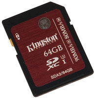 Secure Digital Kingston 64GB SDXC High Speed Class10 UHS-I U3 90MB Read/80MB Write for 4K Video