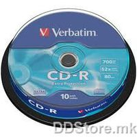 CD-R 700MB 52x Verbatim Extra Protection 10pcs Wrap