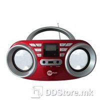 Mpman Portable Radio/CD Player 64USB Red