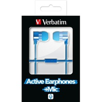 Earphones Micro Verbatim Active w/Microphone Blue