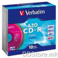 CD-R 700MB 52x Verbatim Super Azo 10pcs Slim case