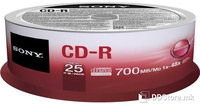 CD-R 700MB 52x Sony 25CDQ80SP 25pcs Spindle