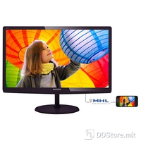 "Monitor 24"" Philips 247E6LDAD E-Line, Full HD, 1ms, VGA,DVI, MHL-HDMI,Speakers, Black"