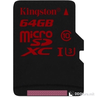 Secure Digital Micro Kingston 64GB SDHC Class10 UHS-I U3 90MB Read/80MB Write for 4K Video