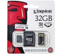 Kingston 32GB Multi Mobility Kit, MicroSD Reader Gen 2 w/32GB microSDHC Class 10 Card,MBLY10G2/32GB