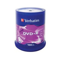 DVD+R Verbatim 4.7GB 16x 100pcs Spindle Matt Silver