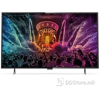 "PHILIPS 43PUS6401 43"" (109cm) DARK SILVER Android™ 5.1 (Lollipop) UltraHD Smart LED TV, Resolution: 3.840 x 2.160, Ultra HD 4K, PPI 1.000, equal to 1.000HZ, QUAD Core processor, Operating system Android™ 5.1 (Lollipop) with 8GB ROM, Micro Dimming"