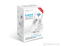 TP-Link Wi-Fi Range Extender 300Mbps Wireless N Wall Plugged, 2.4GHz, 802.11b/g/n, 1 10/100M LAN, Ranger Extender button, 2 fixed antennas power socket