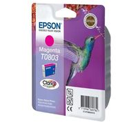 PTC EC-T803, T0803, Magenta, (12ml), Ink Cartridge for Epson Stylus Photo R265, R285, R360; RX 560, RX585, RX640, RX685; PX800FW