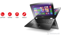 "Lenovo  Flex 3 11 Win8.1Pro N2840 (2,16GHz 1MB) 11,6"" (1366 x 768) Touchscreen 500GB 4GB Intel HD, Black"