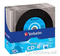CD-R Verbatim Data Vinyl 700MB 48x 10pcs Slim case