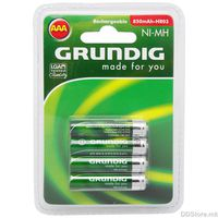 Grundig Battery Rechargeable AAA/HR03 1,2V (4pcs) Alkaline 850mAh  model 31599