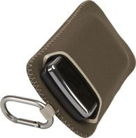 CASE LOGIC UNIVERSAL NEOPRENE POCKET BROWN (12.1 x 1.9 x 7) CM Dual sided with additional storage for ear buds or other small cords. Soft lining protects LCD screens. Carabiner attaches to belt loop, backpack or purse for hands free transportation