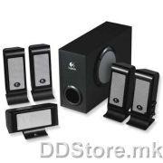 970187-0914 Logitech OEM S500, Black&Silver, 5.1 Speaker System 35W RMS