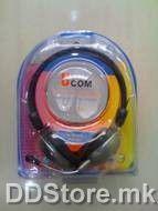 Ucom UC-508 Headphone, 3.5mm Plug, PVC