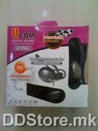 Ucom UC-9966 Headphone, 3.5mm Plug, PVC