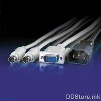 11.01.5416-25 Extension Cable Set: 1xHD15 M/F, 2xPS/2 M/F, 1xEuro Power Extension Cable 1.5m